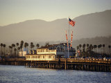 The Pier, Santa Barbara, California. USA Photographic Print by Walter Rawlings