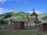 Red Sect Buddhist Monastery, Archon, Baima, Qinghai Province, China, Asia Photographic Print by Occidor Ltd