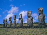 Ahu Akiui, Easter Island, Chile, Pacific Photographic Print by Geoff Renner