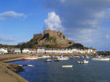 Mont Orgueil Castle, Gorey Harbour, Jersey, Channel Islands, UK Photographic Print by Robert Harding