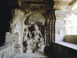 Jain Sculpture, Upper Storey Cave 32 (Indra Sabha) 9th Century, Ellora, Maharashtra, India Photographic Print by Richard Ashworth