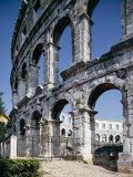 Roman Amphitheatre, Pula, Croatia, Europe Photographic Print by Peter Scholey