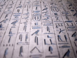Hieroglyphics in the Interior of the Pyramid of Unas, Sakkara (Saqqarah), Egypt, Africa Photographic Print by Richard Ashworth