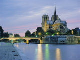 Notre Dame and the River Seine, Paris, France, Europe Photographic Print by Peter Scholey