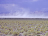 Salt Flats, Nevada, USA, Dust Storm Photographic Print by Walter Rawlings