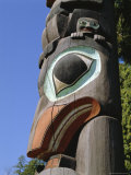 Close-up of Carved Totem in Vancouver, British Columbia, Canada Photographic Print by Robert Harding