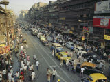 Busy Street, Calcutta, West Bengal, India Photographic Print by John Henry Claude Wilson