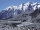 The Karakorum (Karakoram) Highway on the Chinese Side, with River Giz, Xinjiang, China, Asia Photographic Print by Occidor Ltd