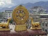 View of the Potala from Jokhant (Jokhang) Temple, Lhasa, Tibet, China, Asia Photographic Print by Maurice Joseph