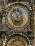 The Gothic Horloge, Astronomical Clock, Old Town Hall, Stare Mesto Square, Prague, Czech Republic Photographie par Gavin Hellier