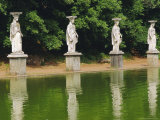 Caryatids Line Canal of Canopue, Hadrian's Villa, Tivoli, Lazio, Italy Photographic Print by Nedra Westwater