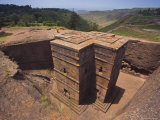The Sunken Rock Hewn Church of Bet Giyorgis (St. George), Lalibela, Northern Ethiopia, Ethiopia Photographic Print by Gavin Hellier