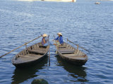 Two Women in Boats, Danang, Vietnam, Indochina, Southeast Asia, Asia Photographic Print by Sybil Sassoon