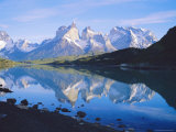 Chile, Patagonia, Torres Del Paine National Park, Cuernos Del Paine (2,600M) from Lago Pehoe Photographic Print by Geoff Renner