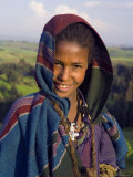 Portrait of Local Girl, Unesco World Heritage Site, Simien Mountains National Park, Ethiopia Photographic Print by Gavin Hellier