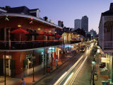 City Skyline and Bourbon Street, New Orleans, Louisiana, United States of America, North America Photographic Print by Gavin Hellier