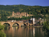 Castle, Neckar River and Alte Bridge, Heidelberg, Baden Wurttemberg, Germany, Europe Photographic Print by Gavin Hellier