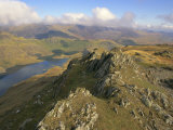 Llynllydow from Snowdon Horseshoe, Snowdonia National Park, Gwynedd, Wales, UK, Europe Photographic Print by Lorraine Wilson