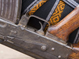 Detail of a Semi Automatic Weapon in the Lower Omo Valley, Ethiopia, Africa Photographic Print by Gavin Hellier