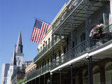 Wrought Iron Balconies in the French Quarter, New Orleans, Louisiana, USA Photographic Print by Gavin Hellier