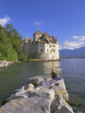 Chateau Chillon, Lake Geneva (Lac Leman), Switzerland, Europe Photographic Print by Gavin Hellier