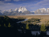Snake River and the Tetons, Grand Teton National Park, Wyoming, USA Photographic Print by Gavin Hellier