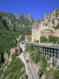 Montserrat Monastery Founded in 1025, Catalunya (Catalonia) (Cataluna), Spain, Europe Photographic Print by Gavin Hellier