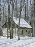 Wooden Building, Sucerie De La Montagne, Sugar Shack, Quebec Province, Canada Photographic Print by Maurice Joseph