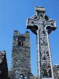 High Cross, Church of Slane Friary, County Meath, Leinster, Republic of Ireland (Eire), Europe Photographic Print by Nedra Westwater
