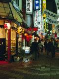 Street Scene at Night, Shinjuku, Tokyo, Japan, Asia Photographic Print by Gavin Hellier