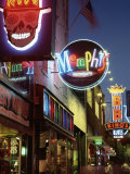 The Famous Beale Street at Night, Memphis, Tennessee, United States of America, North America Photographic Print by Gavin Hellier