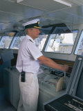 Ship's Captain on the Bridge, Cruise Ship Photographic Print by Gavin Hellier