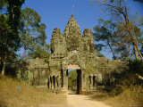 The Entrance Gate to Angkor Thom, Angkor, Siem Reap, Cambodia Photographic Print by Maurice Joseph