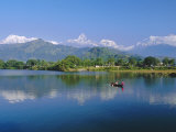 Phewatal Lake, Annapurna Region, Pokhara, Nepal Photographic Print by Gavin Hellier