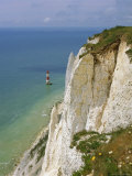 Lighthouse and Chalk Cliffs at Beachy Head, Near Eastbourne, East Sussex, England, UK Photographic Print by Philip Craven