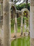 Hadrian's Villa, Canopus Canal, Tivoli, Lazio, Italy, Europe Photographic Print by Nedra Westwater