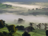 Mist Forming in Hollows, Teign Valley, Devon, England, UK Photographic Print by Cyndy Black