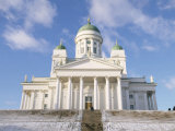 Lutheran Christian Cathedral in Winter Snow, Helsinki, Finland, Scandinavia, Europe Photographic Print by Gavin Hellier