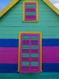 Colourful Chattel House Front, Barbados, West Indies, Caribbean, Central America Photographic Print by Gavin Hellier