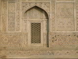 Detail of the Tomb of Itmad Ud Daulah (Itimad-Ud-Daulah), Agra, Uttar Pradesh State, India Photographic Print by Gavin Hellier