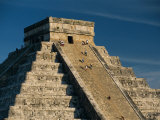 Mayan Ruins, Chichen Itza, Unesco World Heritage Site, Yucatan, Mexico, Central America Papier Photo par Gavin Hellier