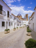 Church and Street in Altea, Valencia, Spain, Europe Photographic Print by Gavin Hellier