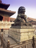 Lion Statue, Forbidden City, Beijing, China, Asia Photographic Print by Gavin Hellier