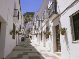 Street in the White Hill Village of Mijas, Costa Del Sol, Andalucia (Andalusia), Spain, Europe Photographic Print by Gavin Hellier