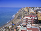 View Over the Seafront and Beach, Fuengirola, Costa Del Sol, Andalucia (Andalusia), Spain, Europe Photographic Print by Gavin Hellier