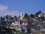View of Town and Church, Simla, Himachal Pradesh State, India, Asia Photographic Print by Maurice Joseph
