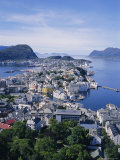 View from Aksla Over Alesund, Romsdal, Norway, Scandinavia, Europe Photographic Print by Geoff Renner