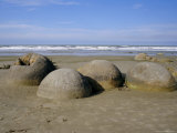 The Moeraki Boulders on the Coast, Dunedin, Otago, South Island, New Zealand, Pacific Photographic Print by Maurice Joseph