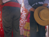 Details of Dress, Romeria Del Rocio Festival, El Rocio, Andalucia (Andalusia), Spain, Europe Photographic Print by Gavin Hellier