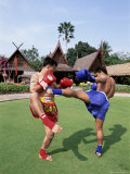 Thai Boxers, the Rose Garden, Bangkok, Thailand, Southeast Asia, Asia Photographic Print by Gavin Hellier